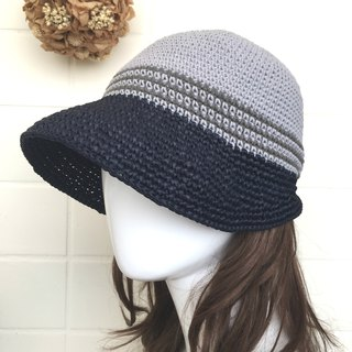 The process of love keeps warm wool visor - blue gray