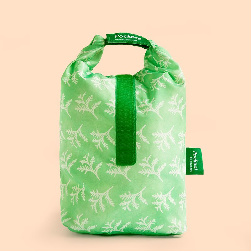 Good day | Pockeat green food bag (large food bag) - red 桧