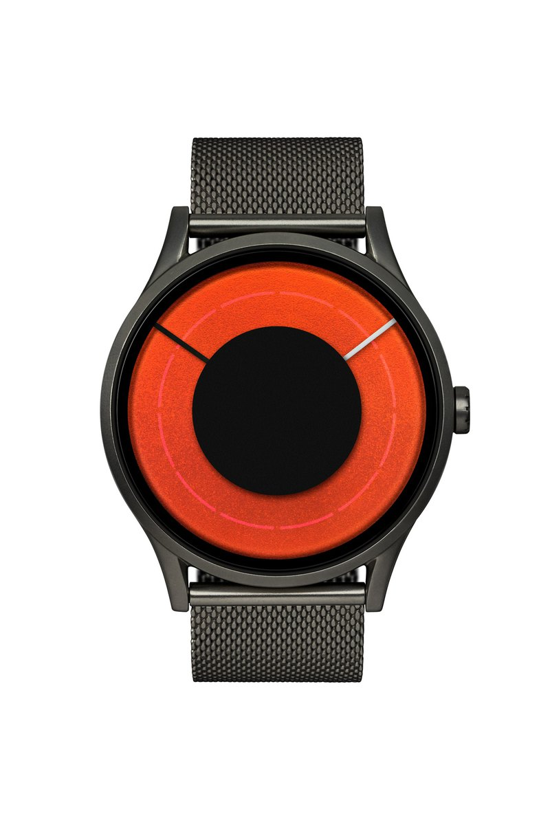 Light Years Watch SOLARIS (Black / Red / Orange / Green, Gunmetal / Blaze) * Stainless Steel Strap