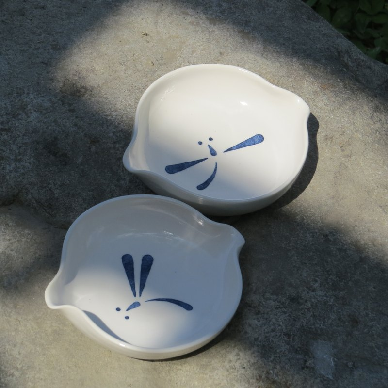 【Immortal】 dripping small dish - a pair of pure dragonfly
