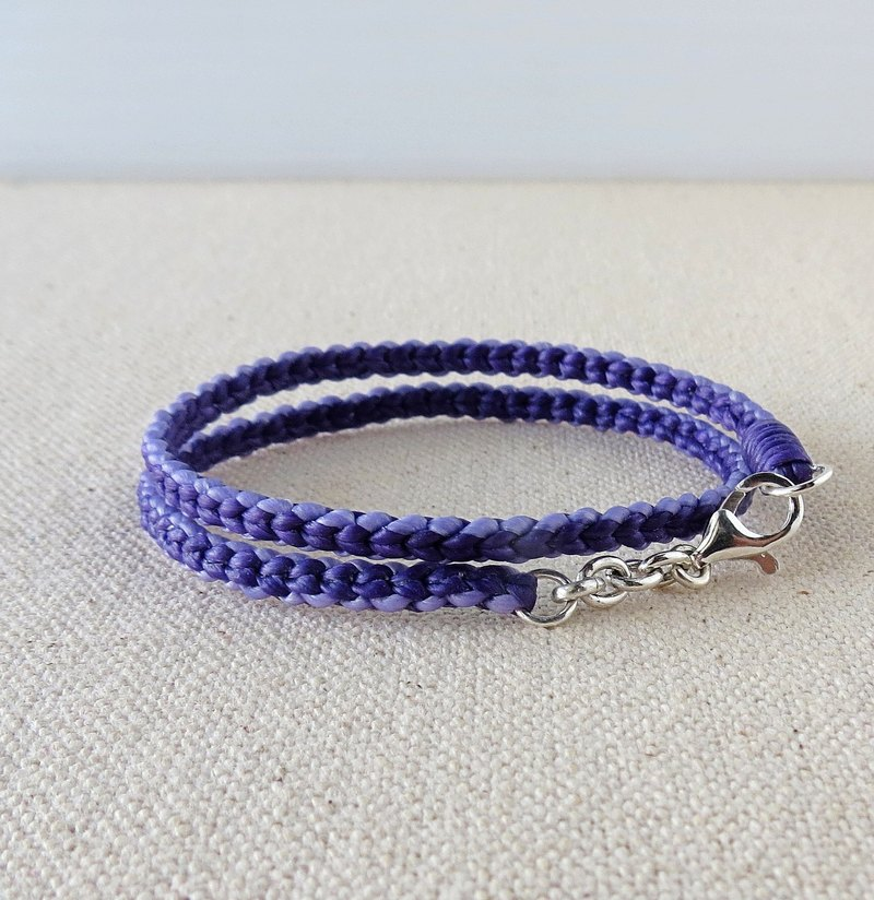 Silver ***fashion lucky pray wax line bracelet silk*** six shares double knitting circle basic models [] [] attached gift