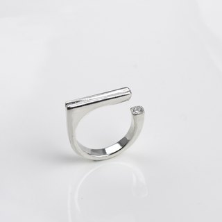 Love low key (925 sterling silver ring zircon silver Valentine's Day gift) ::C% handmade jewelry::
