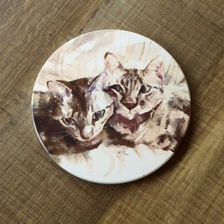 Ceramic Absorbent Coaster - Rob