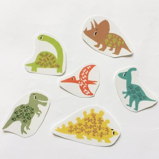 Dinosaur transparent sticker hand cut a pack of paper into the bag 6 into