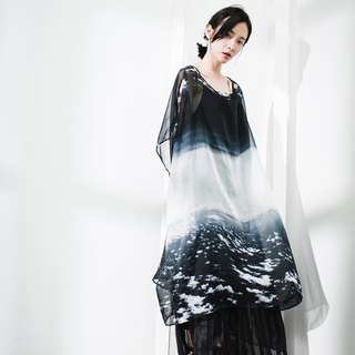 JUBY CHIU / About sea of ​​clouds cloak wide shirt