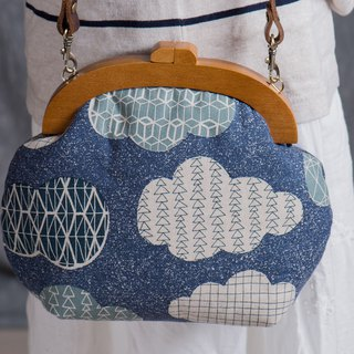 [Textured clouds] Vintage wooden gold package-Fashion bag # # Wen Wen # vintage # Nostalgic # # Mother's Day gift low-key