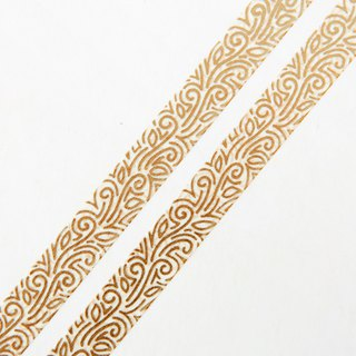 Gold Rivendell 10mm x 10m washi tape - Gold Foil Vine Ornament - Swedish Design