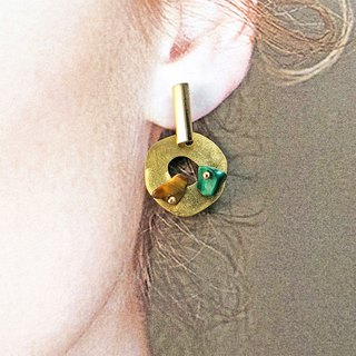 【Japanese Style】925 Silver Earrings【Birthday Gift】【 Brass Earrings】futuristic
