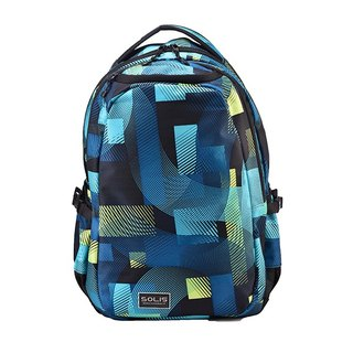 "SOLIS [ Circus Series ] 15"" Ultra+ basic laptop backpack(playful blue)"