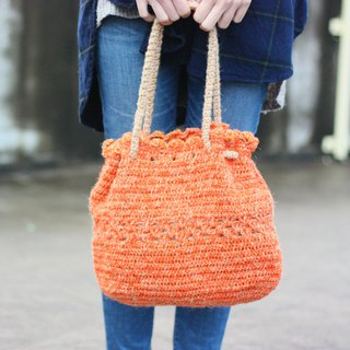 Orange tangerine handbag