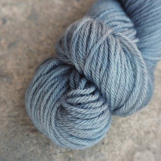 Hand dyed the line. Blue gray (Sport 100% super washed Merino)