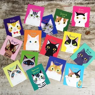 Big Head Cat Fun Stickers (set 15 of a total of 30)