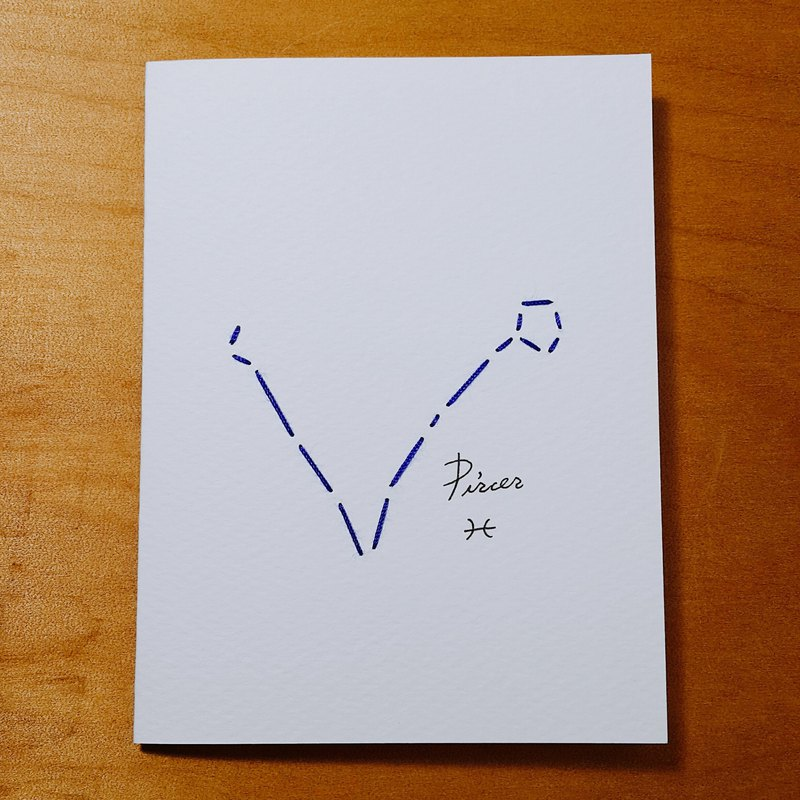 zodiac/Zodiacal Constellations card Embroidery paper