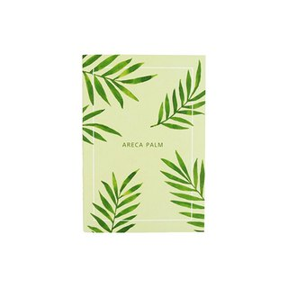 Flower bloom horizontal line notebook M size 06. Palm leaves