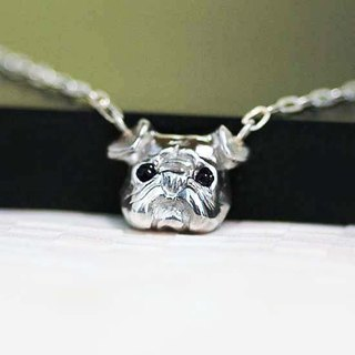Small pug face pendant 【free shipping】 dog wow silver silver made silver