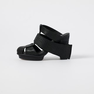 ZOODY / boat / handmade shoes / high heel sandals / black