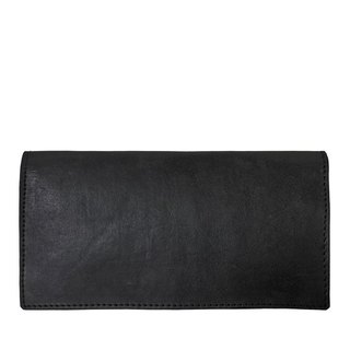 Deep black Flat long wallet