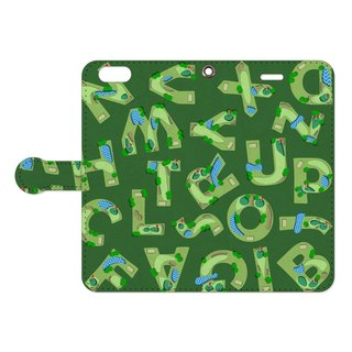 [Handbook type iPhone case] Golf course