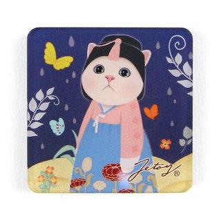 JETOY, Sweet Cat Founder Fridge Cat Magnet (4 * 4cm) _Doongyee J1707219