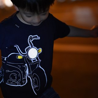 童裝 摩托車自體發光深藍色 T-shirt KIDS motorbike T-shirt (Dark Navy)