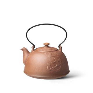 Tao Zongfang│Old Rock Dog Year Zodiac Memorial Jiushi Kettle