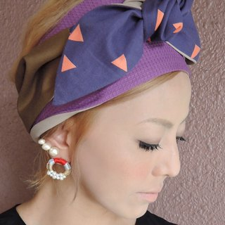 RATA original turban with purple&pink free style【Japan】
