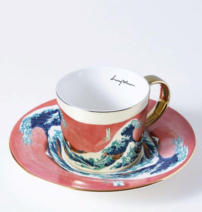 Luycho 韓國 鏡面倒影杯 咖啡杯 _ 神奈川沖浪裏 (致敬)