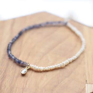 <☞ HAND IN HAND ☜> Jin bluestone - half and half bracelet (0021)
