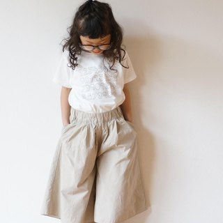 Cotton typewriter wide pants 110,120size