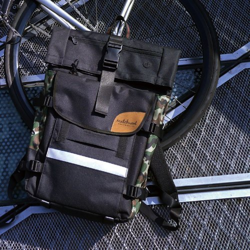 Matchwood Wood Design Matchwood Rider Waterproof Notebook Backpack Backpack 17 Classic Black Camouflage Backpack