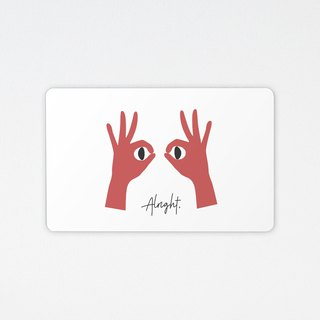 Alright | Wafer travel card (non-card)