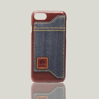Manzanilla- iPhone 7 / iPhone 8 wax leather back cover - brown
