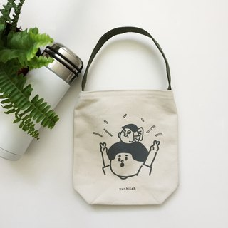 (Second bomb) Jieshi second anniversary of environmental protection Kettle beverage bag - gray ink + earth green strap