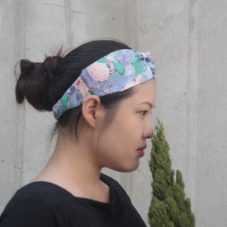 Lake mirror cotton handmade cross elastic hair band