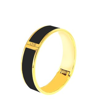 Solid color black cloisonne enamel series solid color bracelet (gold) -11500159001