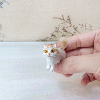 Orange scottish fold, Cat miniature, Miniature cat dolls, Dollhouse