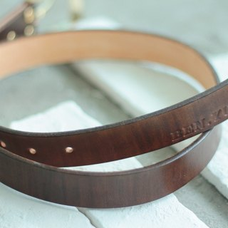 Make Your Choicesss hand-dyed vegetable tanned Italian leather belts