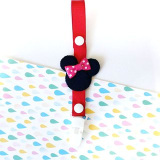 Cheerful baby pacifier chain nipple clip anti-drop chain can be changed into vanilla pacifier using Minnie