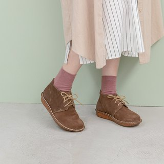 Round short boots _ brown