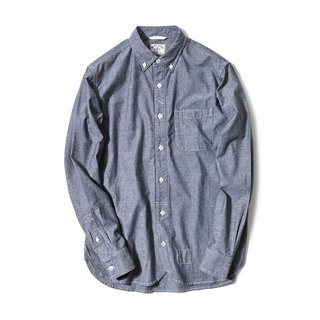 Japanese Charmbary Long Sleeve Worker Shirt In Black