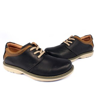 Temple Xiaoliang product functional lightweight leather derby shoes dark blue