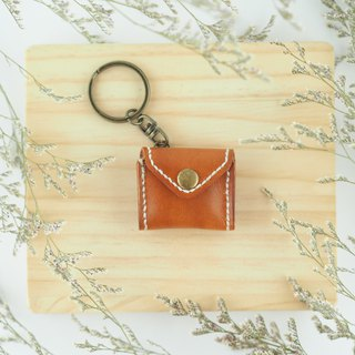 Mini chiffon key ring brown purse envelope styling necklace