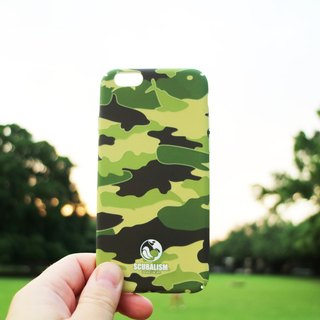 Camouflage Green / fish / phone case / water paste / stereo / luminous / full hard shell edging / iPhone6 ​​(s), 6 (s) Plus, 7,7Plus