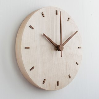 CLOCK_20 Taiwan handmade limited edition silent wall clock Maple Maple