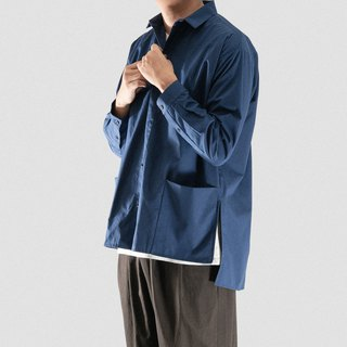 Neutral square pocket shirt blue