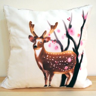 Taiwan Sika Deer Pillow (Plum) Deer - 50cm