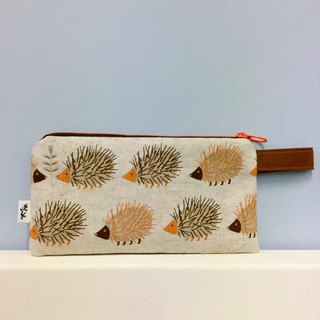 Hedgehog rowing line - mobile phone bag / pencil case / wallet / universal bag