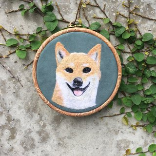Wool felt embroidery - custom simulation animal dog articles