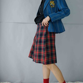 Treasure Hunting - British College Red Plaid Skirt