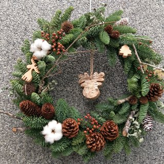 Dried Christmas wreath series [forest]